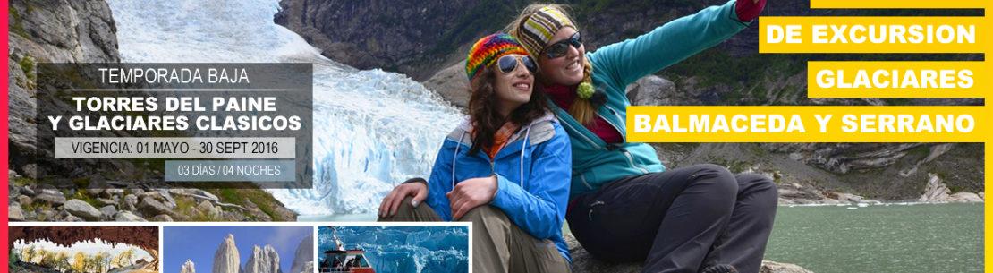 Temporada Baja: Torres del Paine y Glaciares Clásicos